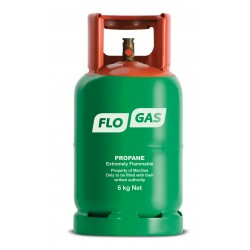 Flogas Propane Gas 6kg Refill (Formerly BP Green)