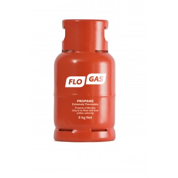 Flogas 6kg Commercial Propane Refill Bottled Gas